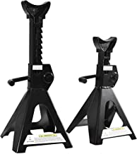 """Catinbow Steel Jack Stands 3 Ton (6,000 lb) Capacity, Maximum Height: 16.75"""", Steel Stand with Large Area Bottom Support, ..."""