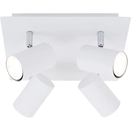 Briloner Leuchten 2857-046 Plafonnier 4 Ampoules GU10 Max. 40 W, Blanc, métal, Weiß