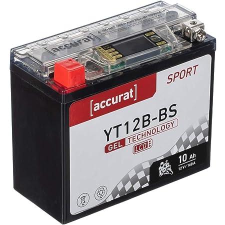 Accurat Motorradbatterie Yt12b Bs 10ah 160a 12v Gel Technologie Lcd Display Starterbatterie Leistungsstark Rüttelfest Abs Geeignet Wartungsfrei Auto