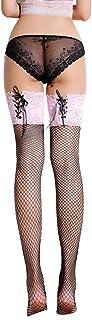 VisSec, Medias de Rejillas Negras Fantasía para Mujeres, VicSec Sexy Red Calcetines Altos hasta Rodillas Erótica Vendaje Top Encaje Vintage Ajustable Novias Colores Opcionales