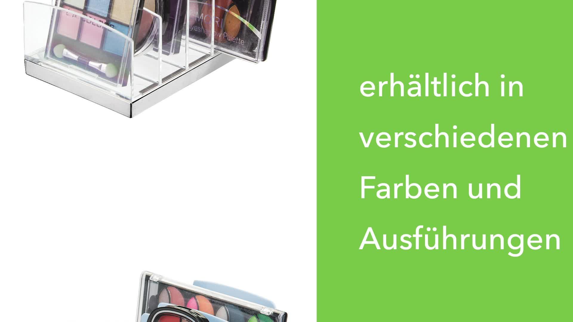 durchsichtig und helllila Schminktisch oder Schrank MDESIGN Kosmetik Organizer aus Kunststoff Schminkaufbewahrung mit 9 Steckpl/ätzen Aufbewahrungsbox f/ür den Waschtisch