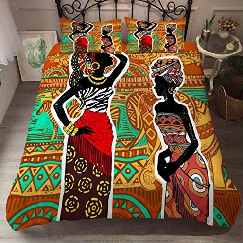 3d Bedding Sets King Size Duvet Cover And Pillowcase Home Textiles Euro Bedding Set African Women Bedclothes Linens