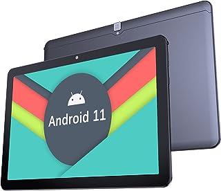 Tablet 10 Zoll Android 11.0-YUMKEM Tablets, WiFi, 4 GB RAM, 64 GB ROM, 1,8 GHz, Android Tablet unterstützt GPS Bluetooth 4.2, U221, Schwarz