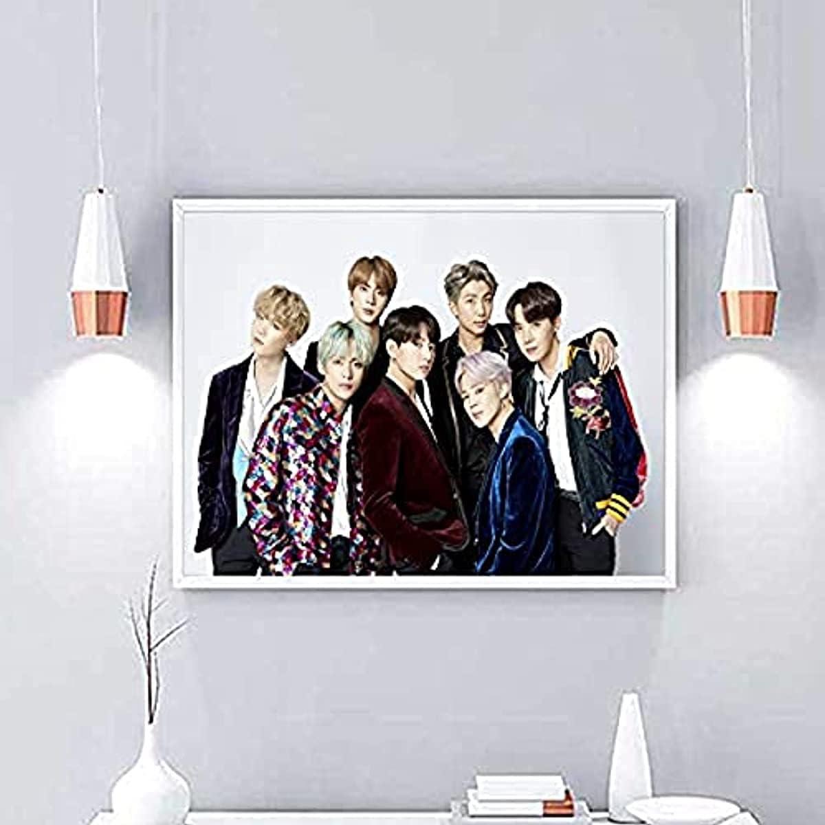 Wonner Bts Poster Kpop Jungkook Suga Jhope V Jin Jimin Rm Bangtan Boys Collage Fotografías Pósteres Impresiones De Amplificadores 20x30cm Inner_Framed