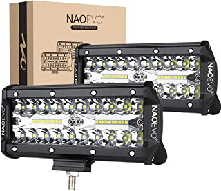 NAOEVO 7inch LED Light Bar, 240W 24,000LM Offroad Fog Light Driving Lights LED Pods with Spot...