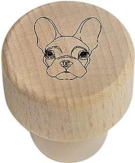 Azeeda 19mm 'French Bulldog' Wooden Bottle Stopper / Cork (BS00014783)