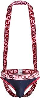 2QIMU Mens Jockstrap Thong Underwear Mesh Suspenders Wrestling Singlet Sexy Jock Strap Thong Bodysuit for Men