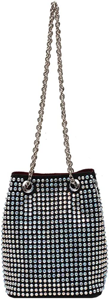Women's evening bag All Reservation Spring new work Diamond Bucket Bag Shoulder Glitter