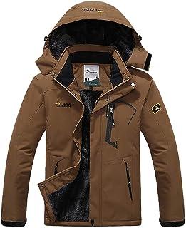 MAGCOMSEN Rain Jackets for Men Waterproof Jacket Snowboarding Travel Walking Ski Skiing Coat Winter Raincoats for Men Wind...