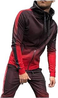 Mogogo Men's Sports Hoodie Zip up Long Sleeve Pockets Pullover Top Sweatshirt