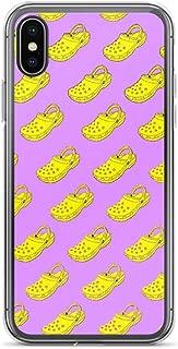 joyganzan Cute Crocs Pattern Case Cover Compatible for iPhone (XR)