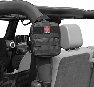 SUNPIE First Aid Kit Emergency Storage Bag to Roll Bar for Jeep Wrangler JK CJ TJ All Models Survival Rescue Case Tools Bags
