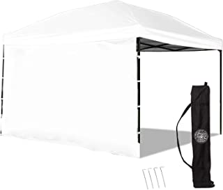 Punchau Pop Up Canopy Tent with Sidewall 10 x 10 Feet, White – UV Coated,..