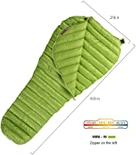 Goose Down Sleeping Bag Ultralight Mummy Bag with Lightweight Compression Sack 800 Fill Power 11 Degree 52F by WIND HARD