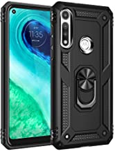 Moto G Fast Case, Yiakeng Military Grade Protective Cases with Ring for Moto G Fast (Black)