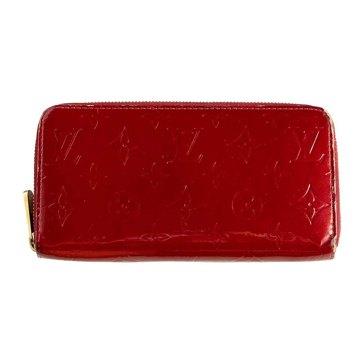 両方引き金傾向(ルイヴィトン) LOUIS VUITTON 長財布 ヴェルニ ジッピーウォレット ポムダムール 濃い赤 M91981