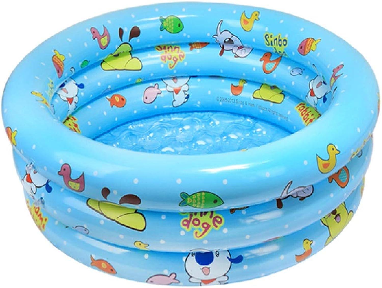 Aufblasbares Becken, Aufblasbares Kinderbecken Verdickt Baby Aufblasbares Schwimmbad Aufblasbare Wanne 100 × 35cm (color   blueee)