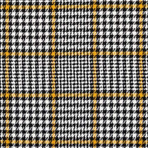 Mezcla de viscosa, tejido a cuadros, color amarillo mostaza.
