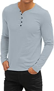 Sponsored Ad - Aiyino Mens Casual V-Neck Button Cuffs Cardigan Short Sleeve T-Shirts
