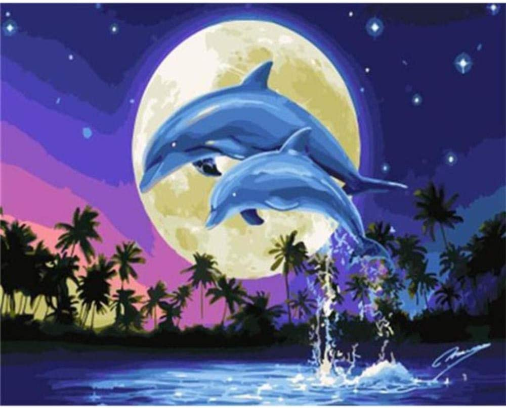 Fangminglei trend rank 5D DIY Diamond Wall Painting Cr Sales for sale Whale Picture Animal