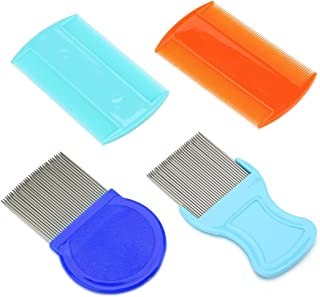 4 Pcs Head Hair Comb Double Sided Teeth Removal Dandruff Comb for Grooming Removing Dandruff Flakes