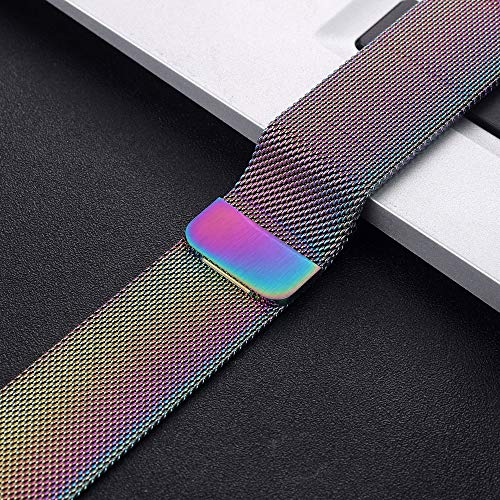 NO BRANDED Magnetic Bracelet Strap For 4 5 40mm 44mm Stainless Steel Band For Watch Band Series 1 2 3 42mm 38mm 7Colorful