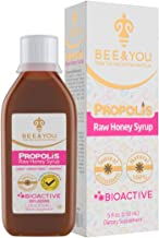 Bee and You Propolis Cough Syrup with Honey & Orange Juice - 43% Natural VIT C per TSP - Natural Immune Support&Sore Throa...