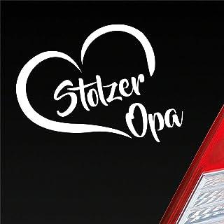 Stolzer Opa Liebe Herz Großvater Enkel Auto Aufkleber Sticker Heckscheibenaufkleber