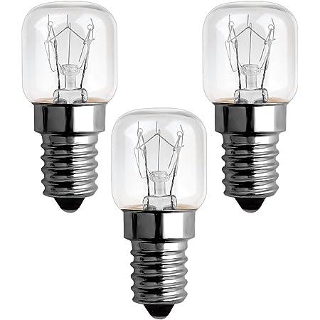 Ampoule Four 15w 300 Degres E14 Dimmable, Ampoule Incandescence E14 T22, Blanc Chaud 2300k, AC 220V-240V, 85LM, E14 Petit culot à vis Pygmy Lamps Pour Micro-ondes, Four, Lampe à sel, Lot de 3
