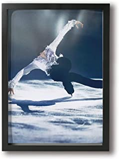 羽生結弦 はにゅう ゆづる Yuzuru Hanyu (13) アートフレーム 壁掛け インテリア絵画 部屋 装飾 額縁 フレーム付き 釘付き アート ポスター ウォールアート フォトフレーム 木製 インテリアアート A4(33X24cm)
