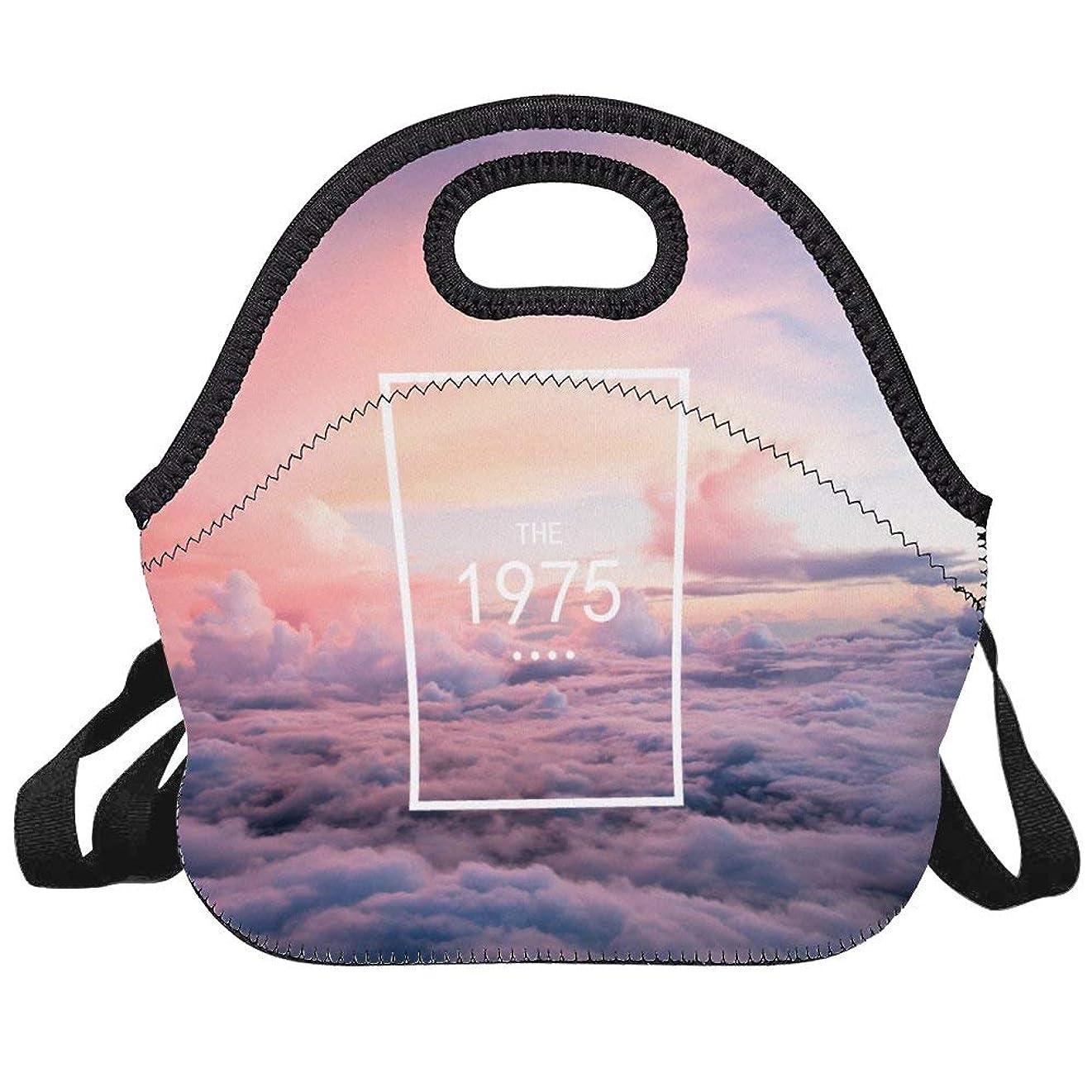 並外れて気がついてつかむTHE1975 雲上ランチバッグ絶縁トラベルピクニックランチボックストートハンドバッグショルダーストラップ付きティーンエイジャー大人用