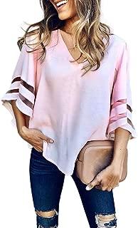 OrchidAmor Women O Neck Tops Short Sleeve Sweatshirt Half Sleeve Shirt Women Pullover Blouse T Shirt Tee