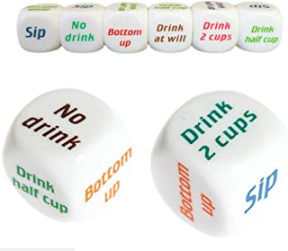 Wellin Turnt Drinking Dice Game, Drunk Frenzy Party Game for Adult , Bachelorette Game 2 pcs