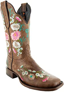 Soto Boots Women's Jasmine Floral Square Toe Cowgirl Boots M50043
