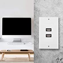 Wall Mounting USB Plate, Wall Socket Wall Plate, White for Hotel Office Building Home
