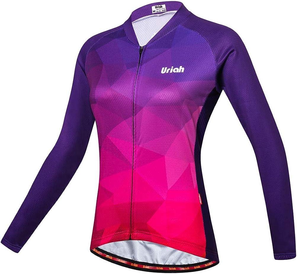 Uriah Women's Cycling Jersey 格安激安 Thermal Reflecti Fleece Sleeve 男女兼用 Long