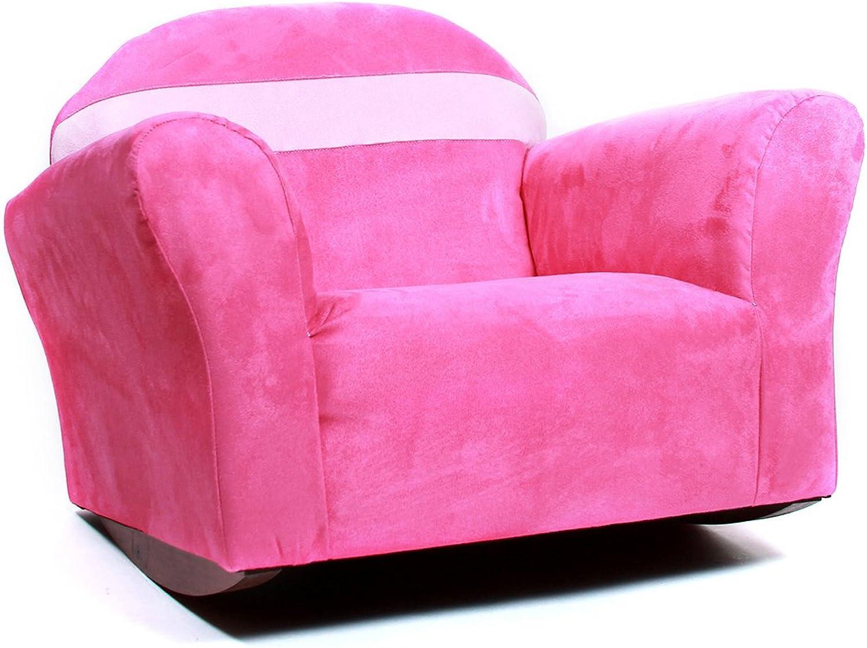 Keet Bubble Rocking Microsuede Kid's Chair, Pink