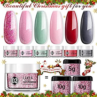 Dip Powder Set for Nail Art 0.83oz, Dipping Powder for Starter with 6 Dip Powder Colors for French Nail Manicure Nail art Set Essential kit