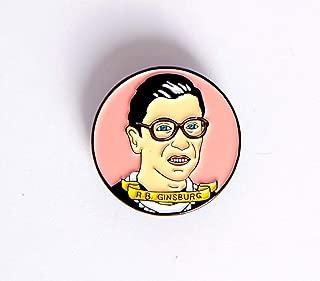 the notorious RUTH BADER GINSBURG enamel pin