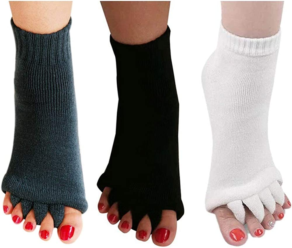 3 Pairs Yoga Sport Gym Five Foot Alignment Lowest price challenge New mail order Socks Separator Toe P