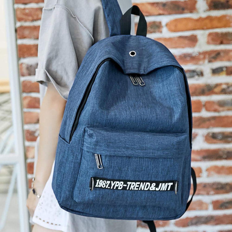 SQBB Studenten Backpack Tasche Mittelschüler mnnlichen Campus Trend weiblichen koreanischen Version der Junior High School-Studenten mit groer Kapazitt Jungen Rucksack Reise 9065 blau