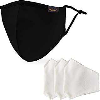 WeCool Belharra Cloth Face Mask Washable and Reusable ( 5 mask with 15 Carbon Filters ), ISO Certified Anti Bacterial Mask...
