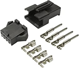 4極 細線用 小型 コネクター オス メス 5組セット 電装品 配線作業 等に