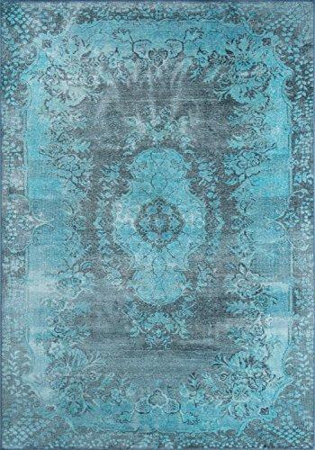 Momeni Teppich AFSHAAFS-9BLU2030 Afshar Traditionelles Medaillon, Blau 2' X 3' blau