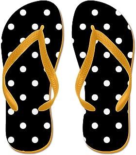 Black and White Polka Dots Beach Sandals