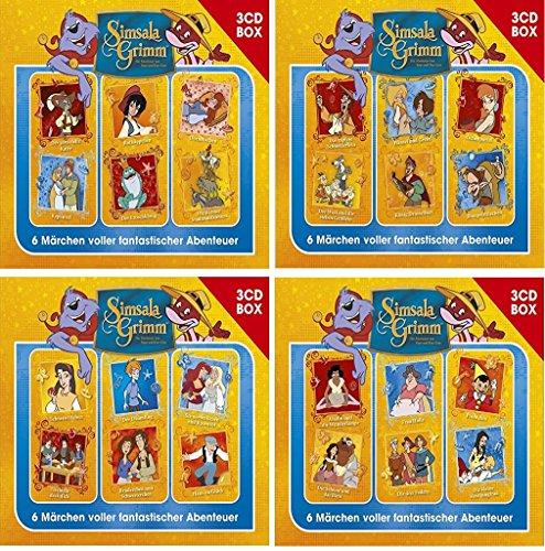 SimsalaGrimm 3-CD Hörspielbox Volume 1+2+3+4 (24 Märchen auf 12 CDs) im Set - Deutsche Originalware [12 CDs]
