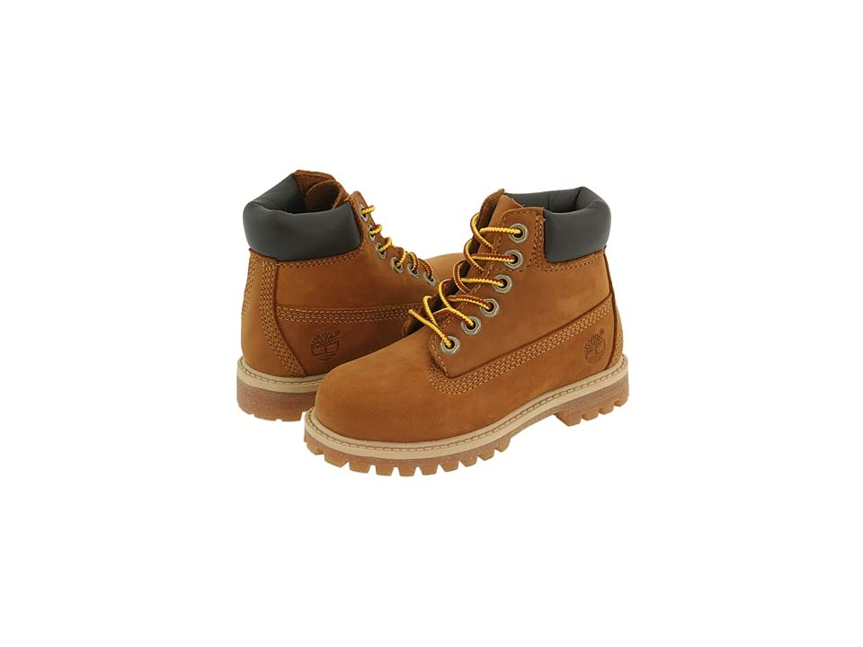 Timberland Kids 6 Premium Waterproof Boot Core (Toddler/Little Kid) (Rust Nubuck/Honey) Boys Shoes