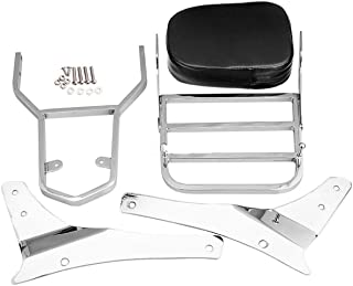 Backrest Sissy Bar Luggage Rack Pad for SUZUKl Volusia VL400 800 Boulevard C50 Quick Delivery