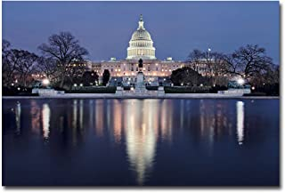 Capitol Reflections by Gregory O'Hanlon, 22x32-Inch Canvas Wall Art