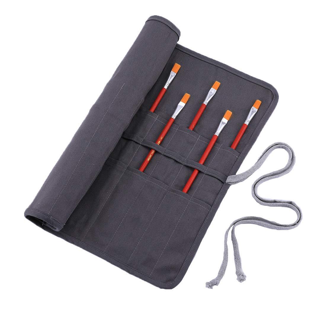 Abaría Bolso estuche enrollable para pinceles para pintar al Óleo/Acrílica/ Acuarela: Amazon.es: Hogar